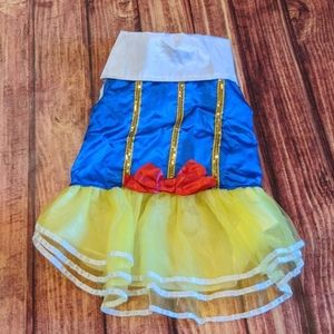 Snow White dog costume, sz L